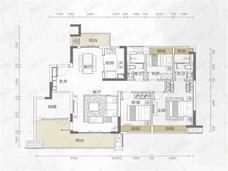融创云水观璟3室2厅2卫户型图
