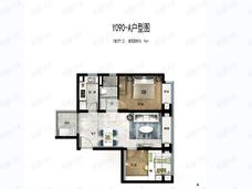 碧桂园天玺湾2室2厅1卫户型图