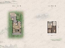首创住总禧瑞金海2室2厅2卫户型图