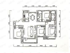 华润置地大连湾国际社区4室2厅2卫户型图
