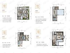 中铁诺德阅墅3室4厅4卫户型图