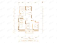 东青云锦熙悦3室2厅2卫户型图