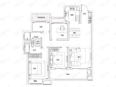 富力院士廷4室2厅2卫户型图