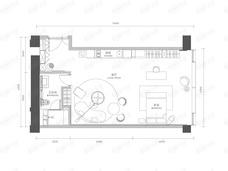 新光大中心ArtPark91室1厅1卫户型图