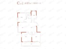 紫金悦峯3室2厅1卫户型图