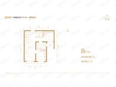 北京沁园2室2厅1卫户型图