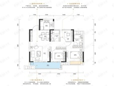 南德缦和世纪3室2厅2卫户型图