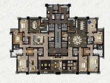 缦合北京7室4厅6卫户型图
