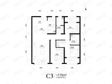中海寰宇天下3室2厅2卫户型图