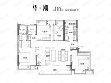 交投·置业|融创|美的青山印4室2厅2卫户型图