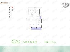 保利·春湖国际生态城3室2厅2卫户型图