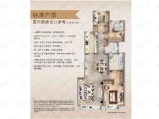 誉天下盛寓3室2厅2卫户型图