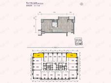 远洋新天地2室1厅1卫户型图