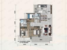 金融街金悦府(顺德)3室2厅2卫户型图