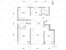 和锦华宸3室2厅2卫户型图