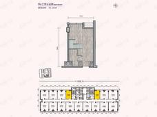 远洋新天地2室1厅户型图