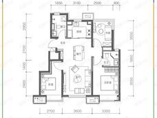 金茂北京国际社区3室2厅2卫户型图