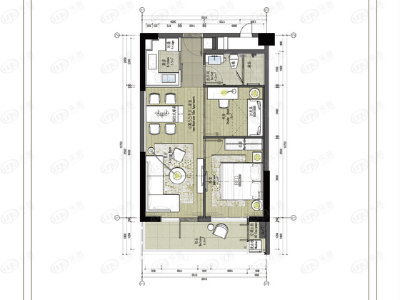 观澜湖·铂石国际公寓 户型图