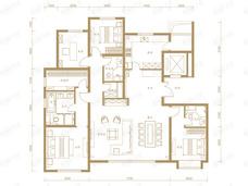 葛洲坝北京中国府4室2厅3卫户型图