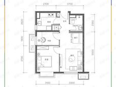 金茂北京国际社区2室2厅1卫户型图