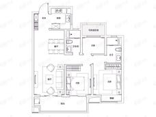 富力院士廷3室2厅2卫户型图