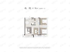 中海十里观澜3室2厅1卫户型图