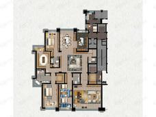 缦合北京4室3厅5卫户型图