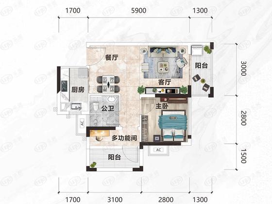 龙光·玖峯城 户型图