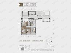潮听明月公寓3室2厅2卫户型图