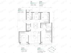 保利•锦上3室2厅2卫户型图