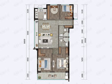滨江·滨涛映月4室2厅2卫户型图