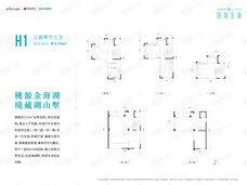 国风金海3室2厅3卫户型图