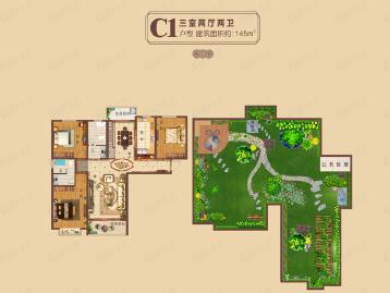 郑东龙湖一号户型图