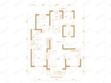 三湘印象森林海尚城4室2厅2卫户型图