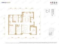 西山金茂府4室2厅2卫户型图
