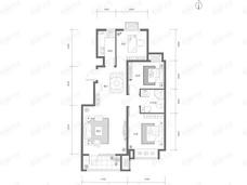 K2十里春风3室2厅1卫户型图