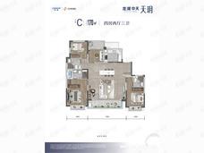 龙湖中天·天玥4室2厅3卫户型图