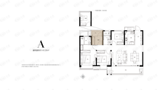 保利天汇4室2厅2卫户型图