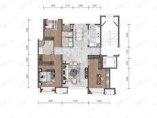 华润置地大连湾国际社区3室2厅2卫户型图
