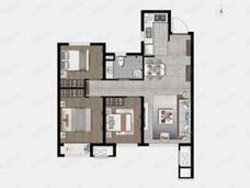 大华锦绣海岸3室2厅1卫户型图