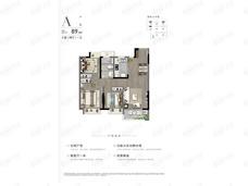 棠玥府3室2厅1卫户型图