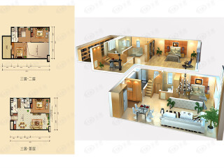 富力新城B1三居户型户型图