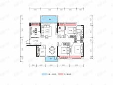 霸王花东城国际4室2厅2卫户型图