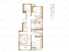 恒大御峰3室2厅2卫户型图