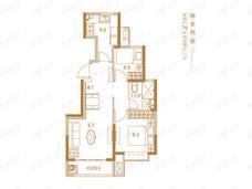 恒大御峰2室2厅1卫户型图