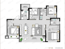碧桂园·云境4室2厅2卫户型图