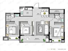碧桂园·云境3室2厅2卫户型图