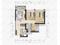 龙光玖龙臺3室2厅1卫户型图