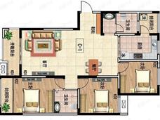 吉地澜花语3室2厅2卫户型图