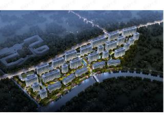 蓝城·杨柳映月